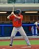 Cortland Crush Luke Gilbert (27) at bat against the Syracuse Salt Cats in Syracuse, New York on Wednesday June 10, 2015.  Syracuse won 5-2.