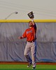 Cortland Crush Luke Gilbert (27) about to make a catch against the Syracuse Junior Chiefs in Syracuse, New York on Friday June 19, 2015. Cortland won 7-5.