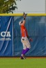 Cortland Crush Julian Gallup (9) catches the ball in Center Field against the Syracuse Junior Chiefs in Syracuse, New York on Friday June 19, 2015. Cortland won 7-5.