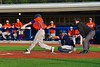 Cortland Crush Luke Gilbert (27) fouls off the ball against the Syracuse Junior Chiefs in Syracuse, New York on Friday June 19, 2015. Cortland won 7-5.