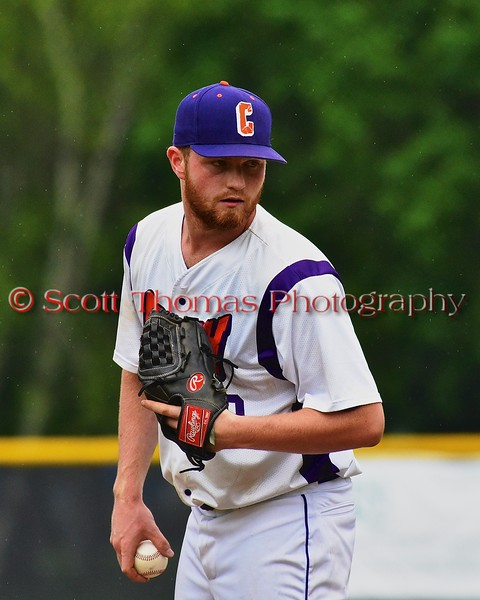 Cortland Crush Ben Barnes (19) pitching against the Syracuse Junior Chiefs on Greg's Field at Beaudry Park in Cortland, New York on Saturday June 20, 2015. Cortland won 4-1.