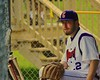 Cortland Crush Adam Halowienka (22) in the Dugout in the game against the Syracuse Junior Chiefs on Greg's Field at Beaudry Park in Cortland, New York on Saturday June 20, 2015. Cortland won 4-1.