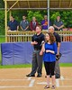 National Anthem singer before the Cortland Crush played the Syracuse Junior Chiefs on Greg's Field at Beaudry Park in Cortland, New York on Saturday June 20, 2015.