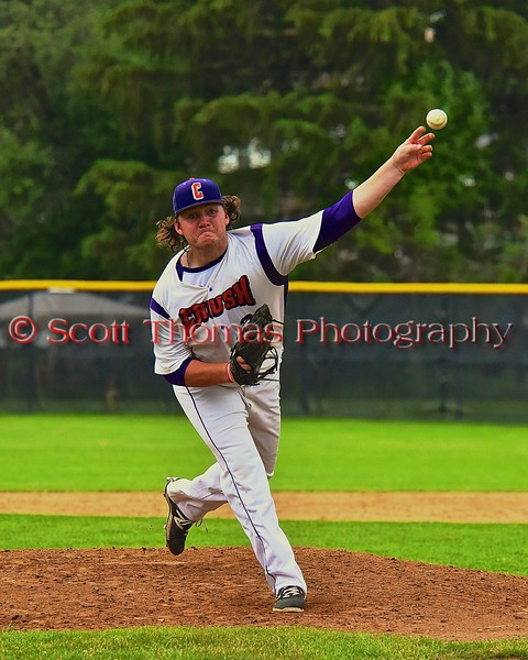 Cortland Crush TJ Peterson (29) pitching against the Syracuse Junior Chiefs on Greg's Field at Beaudry Park in Cortland, New York on Saturday June 20, 2015. Cortland won 4-1.