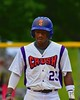 Cortland Crush Terrell Barringer (23) tagging up on Third Base against the Syracuse Junior Chiefs on Greg's Field at Beaudry Park in Cortland, New York on Saturday June 20, 2015. Cortland won 4-1.