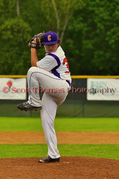 Cortland Crush Shawn Brody (36) pitching against the Syracuse Junior Chiefs on Greg's Field at Beaudry Park in Cortland, New York on Saturday June 20, 2015. Cortland won 4-1.