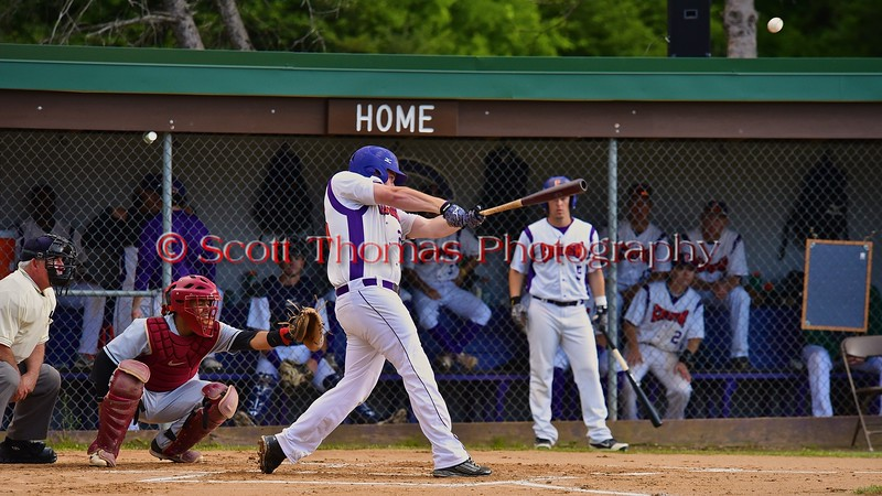 Cortland Crush Zephan Kash (25) hits the ball against the Oneonta Outlaws on Greg's Field at Beaudry Park in Cortland, New York on Tuesday, June 23, 2015. Oneonta won 7-5.