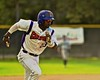 Cortland Crush Terrell Barringer (23) running for Home against the Oneonta Outlaws on Greg's Field at Beaudry Park in Cortland, New York on Tuesday, June 23, 2015. Oneonta won 7-5.