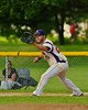 Cortland Crush Zephan Kash (25) playing First Base against the Oneonta Outlaws on Greg's Field at Beaudry Park in Cortland, New York on Tuesday, June 23, 2015. Oneonta won 7-5.