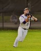 Cortland Crush Alex Loberger (21) catches the ball for an out against the Oneonta Outlaws on Greg's Field at Beaudry Park in Cortland, New York on Tuesday, June 23, 2015. Oneonta won 7-5.