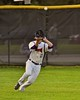 Cortland Crush Alex Loberger (21) fielding the ball against the Oneonta Outlaws on Greg's Field at Beaudry Park in Cortland, New York on Tuesday, June 23, 2015. Oneonta won 7-5.