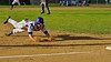 Cortland Crush Hank Pellicciotti (2) dives into Third Base against the Oneonta Outlaws on Greg's Field at Beaudry Park in Cortland, New York on Tuesday, June 23, 2015. Oneonta won 7-5.