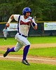 Cortland Crush Julian Gallup (9) heads for Home against the Oneonta Outlaws on Greg's Field at Beaudry Park in Cortland, New York on Tuesday, June 23, 2015. Oneonta won 7-5.