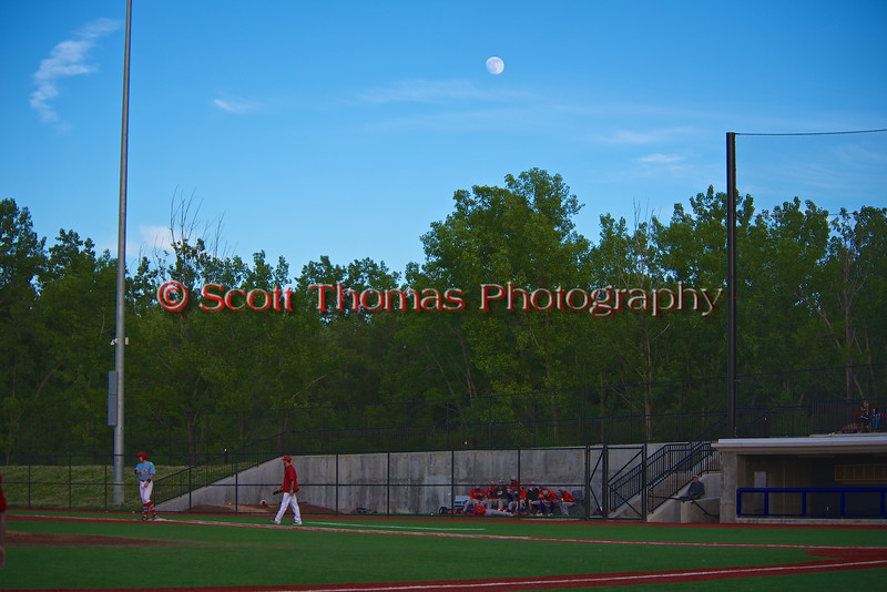 The Moon over the OCC Stadium as the Cortland Crush played the Syracuse Salt Cats in Syracuse, New York on Monday, June 29, 2015. Cortland won 4-1.