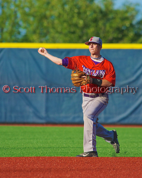 Cortland Crush Hank Pellicciotti (2) warming up before playing the Syracuse Salt Cats in Syracuse, New York on Monday, June 29, 2015.