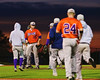 Cortland Crush TJ Peterson (29) is congratulated by his teammates after throwing and winning a complete game against the Syracuse Salt Cats in Syracuse, New York on Monday, June 29, 2015. Cortland won 4-1.