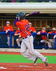 Cortland Crush Zephan Kash (25) smacks a base hit against the Syracuse Salt Cats in Syracuse, New York on Monday, June 29, 2015. Cortland won 4-1.