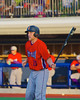 Cortland Crush Alex Loberger (21) warming up for his at bat against the Syracuse Salt Cats in Syracuse, New York on Monday, June 29, 2015. Cortland won 4-1.