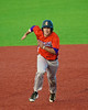 Cortland Crush Alex Loberger (21) running to Third Base against the Syracuse Salt Cats in Syracuse, New York on Monday, June 29, 2015. Cortland won 4-1.