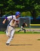 Cortland Crush Matthew Alberino (5) running to Third against the Sherrill Silversmiths on Greg's Field at Beaudry Park in Cortland, New York on Saturday, July 11, 2015. Cortland won 3-2.