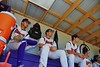 Cortland Crush players watching the game against the Sherrill Silversmiths from the Dugout on Greg's Field at Beaudry Park in Cortland, New York on Saturday, July 11, 2015. Cortland won 3-2.