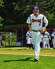 Cortland Crush Matthew Alberino (5) takes the field before playing the Sherrill Silversmiths on Greg's Field at Beaudry Park in Cortland, New York on Saturday, July 11, 2015.