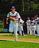 Cortland Crush Jose Arebalo (7) takes the field before playing the Sherrill Silversmiths on Greg's Field at Beaudry Park in Cortland, New York on Saturday, July 11, 2015.