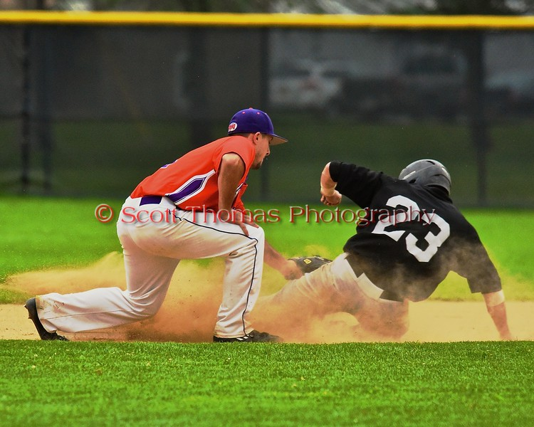 Cortland Crush Wesley Burghardt (8) hosts the Sherrill Silversmiths on Greg's Field at Beaudry Park in Cortland, New York on Saturday, July 17, 2015. Cortland won 5-0.