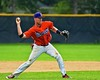 Cortland Crush Sean Getman (24) making a throw against the Sherrill Silversmiths on Greg's Field at Beaudry Park in Cortland, New York on Saturday, July 17, 2015. Cortland won 5-0.