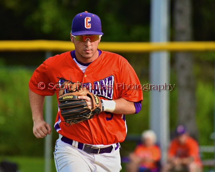 Cortland Crush Matthew Alberino (5) being introduced before playing the Syracuse Salt Cats on Greg's Field at Beaudry Park in Cortland, New York on Monday, July 20, 2015.