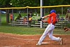 Cortland Crush Nick Panissidi (31) hits the ball against the Syracuse Salt Cats on Greg's Field at Beaudry Park in Cortland, New York on Monday, July 20, 2015. Cortland won 3-2.