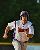 Cortland Crush Wesley Burghardt (8) running the bases against the Oneonta Outlaws on Greg's Field at Beaudry Park in Cortland, New York on Thursday, July 23, 2015. Oneonta won 7-3.