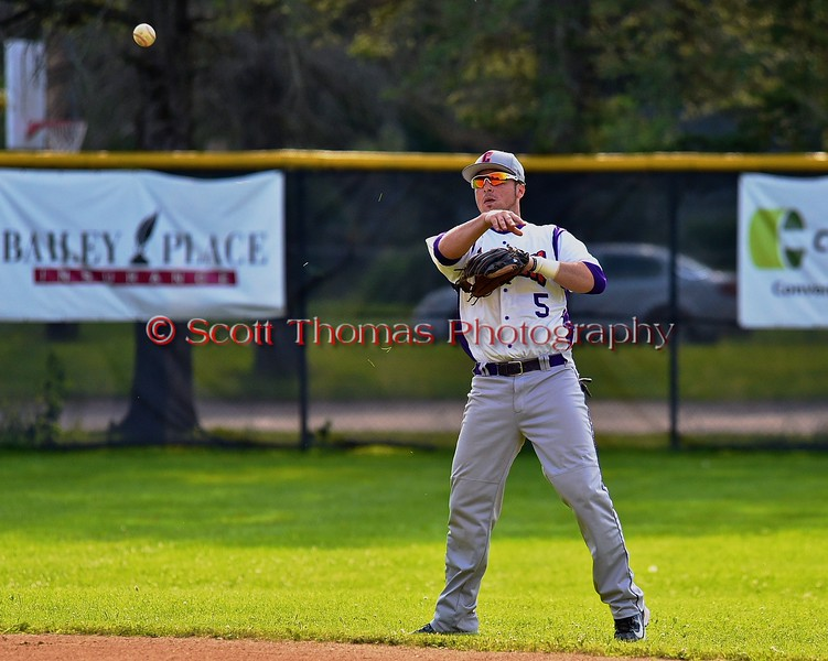 Cortland Crush Matthew Alberino (5) warming up before playing the Oneonta Outlaws on Greg's Field at Beaudry Park in Cortland, New York on Thursday, July 23, 2015.