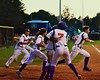 Cortland Crush players run out on to the field after beating the Oneonta Outlaws in a NYCBL Playoff game on Greg's Field at Beaudry Park in Cortland, New York on Monday, July 27, 2015. Cortland won 4-3.