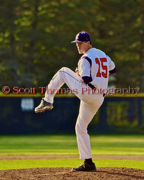 Cortland Crush Shae Edmonds (15) pitching against the Oneonta Outlaws in a NYCBL Playoff game on Greg's Field at Beaudry Park in Cortland, New York on Monday, July 27, 2015. Cortland won 4-3.