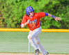 Cortland Crush Luke Gilbert (5) running the bases against the Sherrill Silversmiths on Greg's Field at Beaudry Park in Cortland, New York on Tuesday May 31, 2016. Cortland won 16-3.