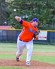 Cortland Crush Tyler Saundry (35) pitching against the Sherrill Silversmiths on Greg's Field at Beaudry Park in Cortland, New York on Tuesday May 31, 2016. Cortland won 16-3.