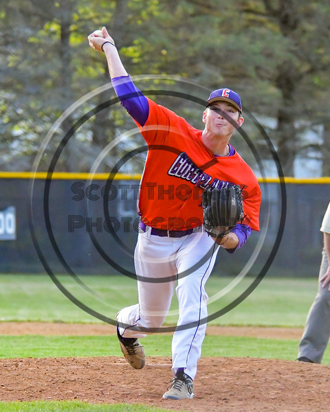 Cortland Crush Jacob Kinney (12) on the mound against the Sherrill Silversmiths on Greg's Field at Beaudry Park in Cortland, New York on Tuesday May 31, 2016. Cortland won 16-3.