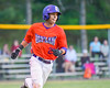 Cortland Crush Josua Lopez (21) running the bases against the Sherrill Silversmiths on Greg's Field at Beaudry Park in Cortland, New York on Tuesday May 31, 2016. Cortland won 16-3.