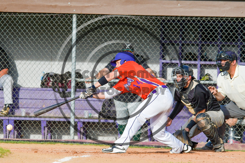 Cortland Crush Patrick Messinger (14) reaches out for a hit against the Sherrill Silversmiths on Greg's Field at Beaudry Park in Cortland, New York on Tuesday May 31, 2016. Cortland won 16-3.