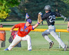 Cortland Crush Andrew Taft (32) snags the ball for an out at first base against the Sherrill Silversmiths on Greg's Field at Beaudry Park in Cortland, New York on Tuesday May 31, 2016. Cortland won 16-3.
