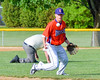 Cortland Crush Patrick Messinger (14) bobbles the ball during a play against the Sherrill Silversmiths on Greg's Field at Beaudry Park in Cortland, New York on Tuesday May 31, 2016. Cortland won 16-3.