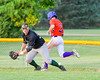 Cortland Crush Broderick Santilli (3) beats the throw to first base against the Sherrill Silversmiths on Greg's Field at Beaudry Park in Cortland, New York on Tuesday May 31, 2016. Cortland won 16-3.