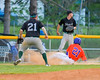 Cortland Crush Josua Lopez (21) sliding into third base against the Sherrill Silversmiths on Greg's Field at Beaudry Park in Cortland, New York on Tuesday May 31, 2016. Cortland won 16-3.