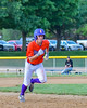 Cortland Crush Broderick Santilli (3) running the bases against the Sherrill Silversmiths on Greg's Field at Beaudry Park in Cortland, New York on Tuesday May 31, 2016. Cortland won 16-3.
