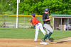 Cortland Crush Patrick Messinger (14) throws the ball to first after tagging Sherrill Silversmiths player out at third base on Greg's Field at Beaudry Park in Cortland, New York on Tuesday May 31, 2016. Cortland won 16-3.