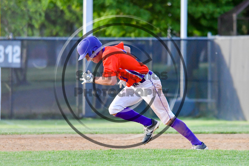 Cortland Crush Broderick Santilli (3) running the bases agaisnt the Sherrill Silversmiths on Greg's Field at Beaudry Park in Cortland, New York on Tuesday May 31, 2016. Cortland won 16-3.