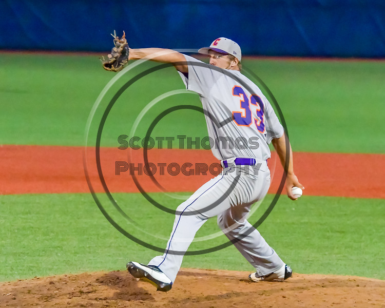 Cortland Crush Blake Demeter (33) pitching against the Syracuse Junior Chiefs in Syracuse, New York on Thursday June 2, 2016. Cortland won 6-0.
