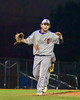 Cortland Crush Clayton Jeffries (42) celebrates the last out and preserves the shutout against the Syracuse Junior Chiefs in Syracuse, New York on Thursday June 2, 2016. Cortland won 6-0.