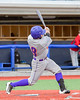 Cortland Crush David Murphy (8) swung and hit the ball against the Syracuse Junior Chiefs in Syracuse, New York on Thursday June 2, 2016. Cortland won 6-0.